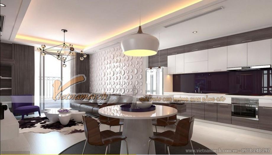 Nội thất phòng ăn và nhà bếp căn hộ Park Hill