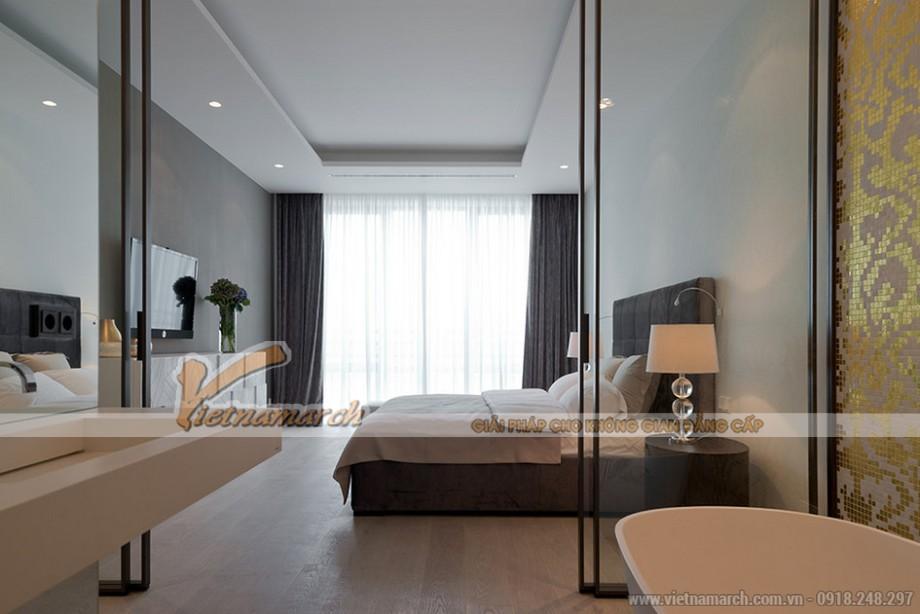 Phòng ngủ Master với thiết kế hiện đại