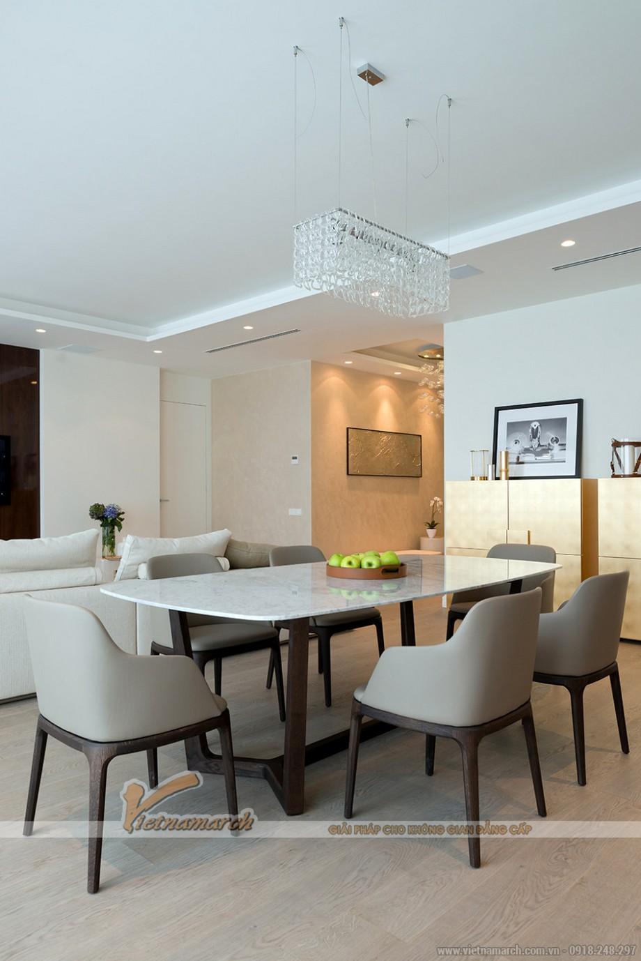 Nội thất phòng ăn đẹp với bộ bàn ghế ăn hiện đại