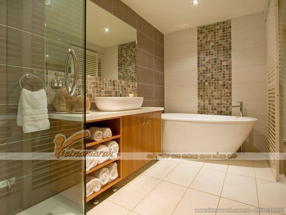 Thiết kế nội thất phòng tắm master căn hộ Park Hill phong cách châu Âu hiện đại