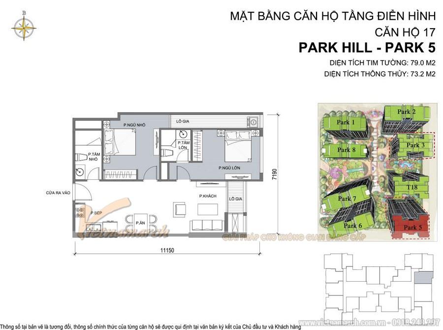 Mặt bằng căn hộ tầng điển hình 17 Park5