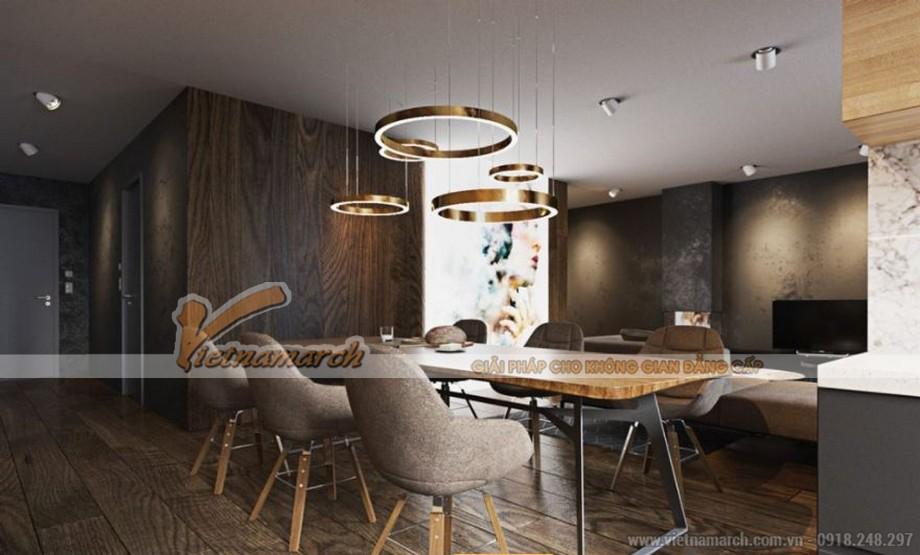 Nội thất phòng bếp + ăn hiện đại căn hộ Park Hill