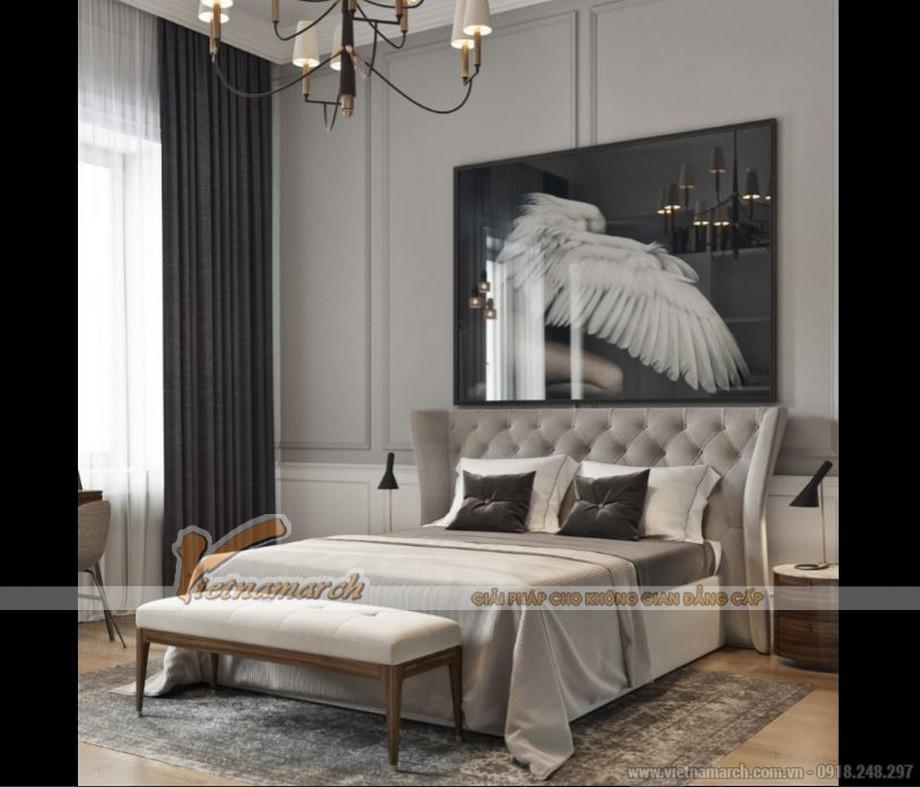 Nội thất phòng ngủ phụ căn hộ Park Hill phong cách tân cổ điển