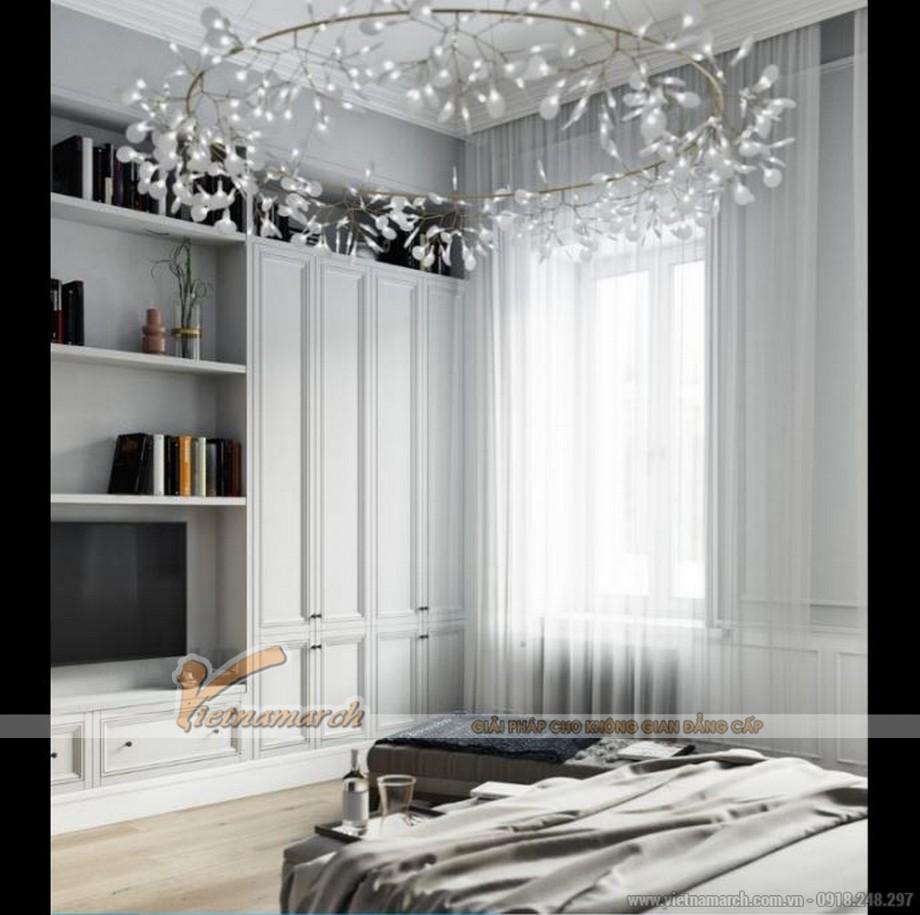 Nội thất phòng ngủ master căn hộ Park Hill mang chút phong cách cổ điển