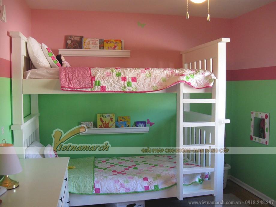 Nội thất phòng ngủ trẻ em chung cư Park Hill , thiết kế giường tầng cho 2 bé
