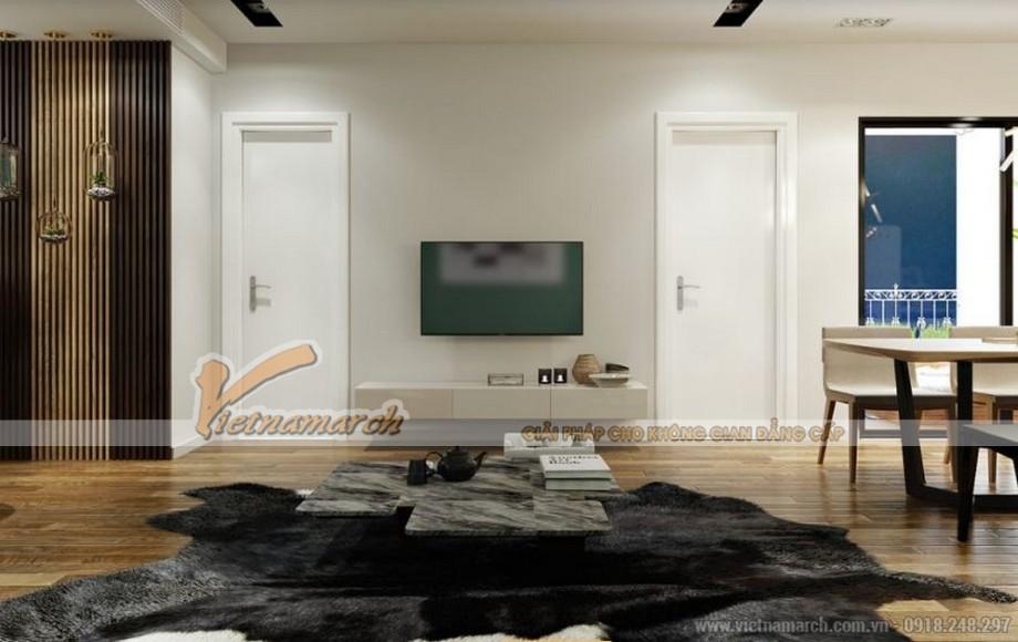 Thiết kế nội thất phòng khách căn hộ 09 tòa Park 6 Park Hill – Times City