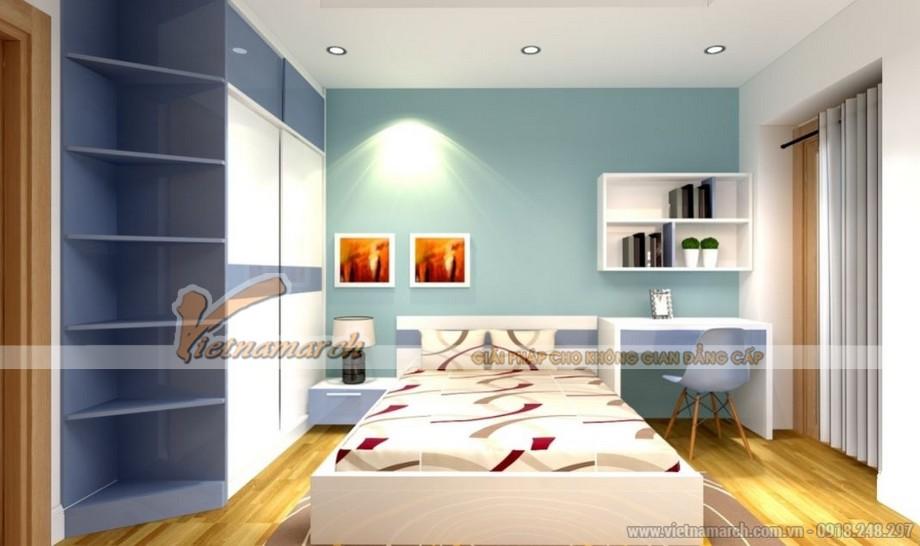 Thiết kế nội thất phòng ngủ con căn hộ 09 tòa Park 6 Park Hill – Times City