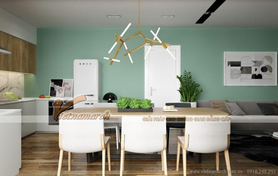 Tư vấn thiết kế nội thất phòng ăn căn hộ 73m2 Park Hill Times City