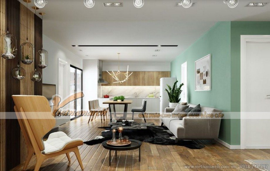 Tư vấn thiết kế nội thất Park Hill Times City căn hộ 73m2