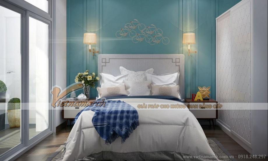 Thiết kế nội thất phòng ngủ master căn hộ 09 tòa Park 6 Park Hill – Times City