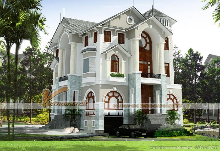 Mẫu thiết kế biệt thự mái thái sang trọng, đẹp hút hồn