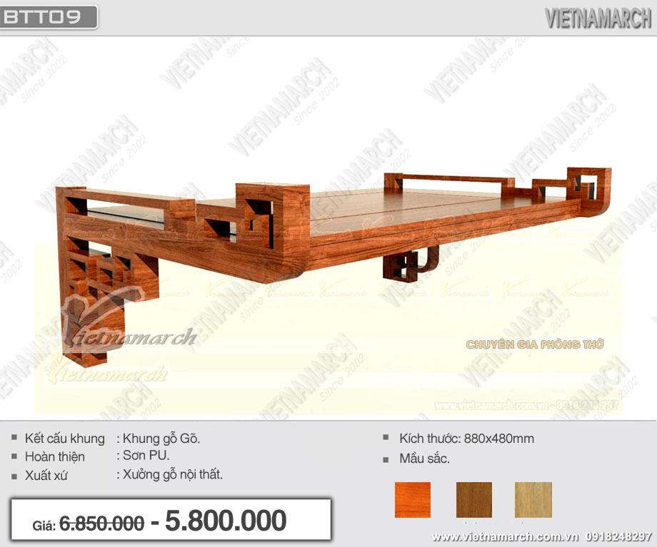 Mẫu bàn thờ treo truyền thống