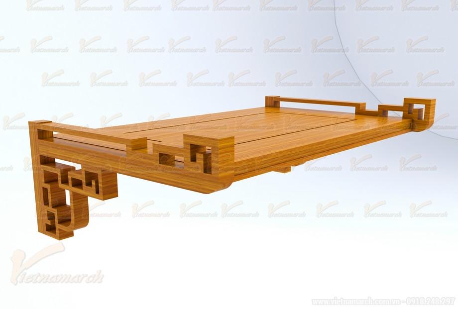 Mẫu bàn thờ treo đặt đóng chuẩn phong thủy 03