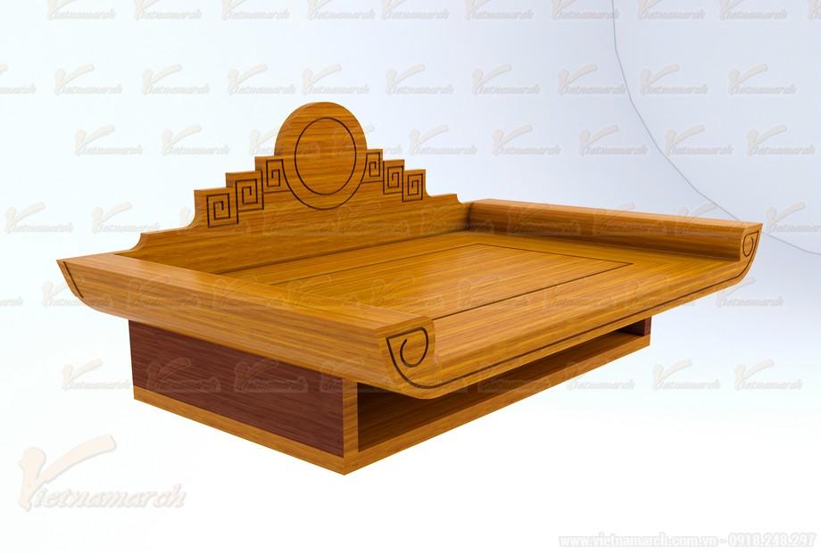 Mẫu bàn thờ treo đặt đóng chuẩn phong thủy 04