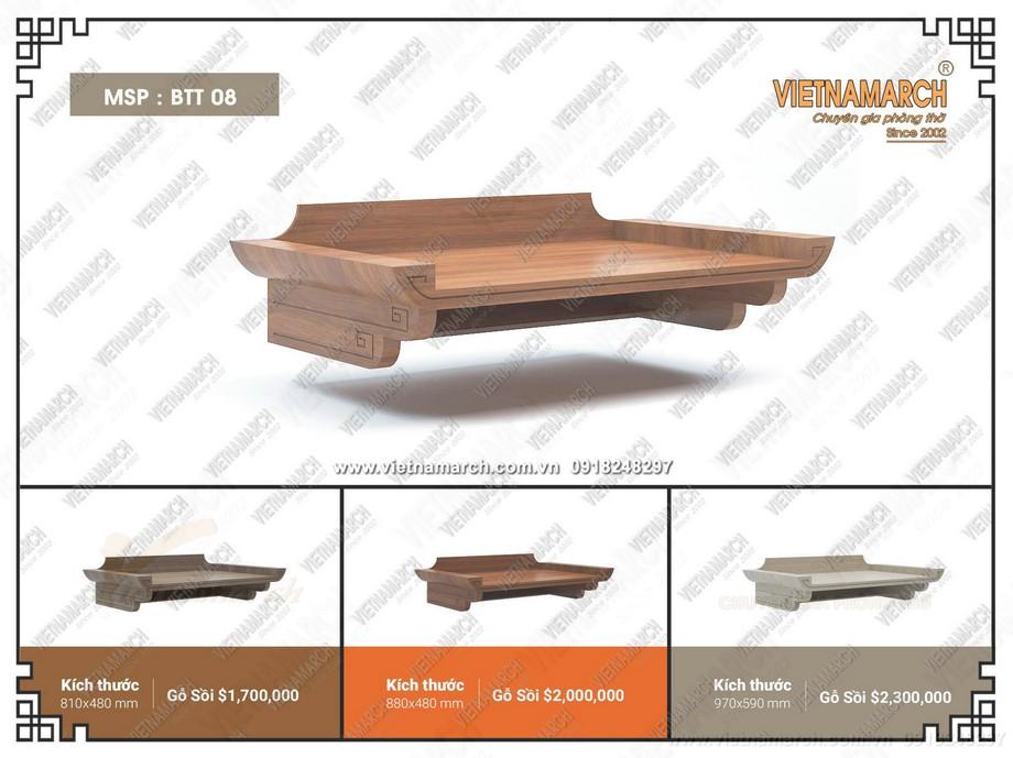 .Những mẫu bàn thờ treo tường mang phong cách đơn giản, hiện đại