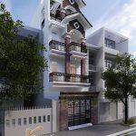 Ngắm mẫu nhà 3 tầng 1 tum kiểu nhà ống mặt phố đẹp ngây ngất