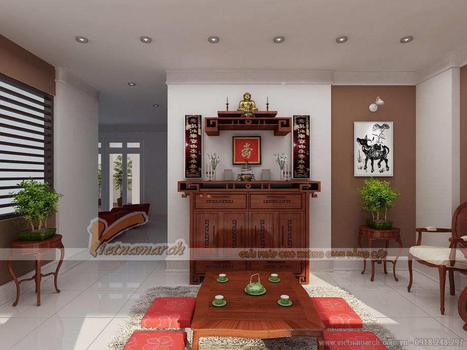 Mẫu bàn thờ treo tường gỗ hương cho chung cư, nhà phố