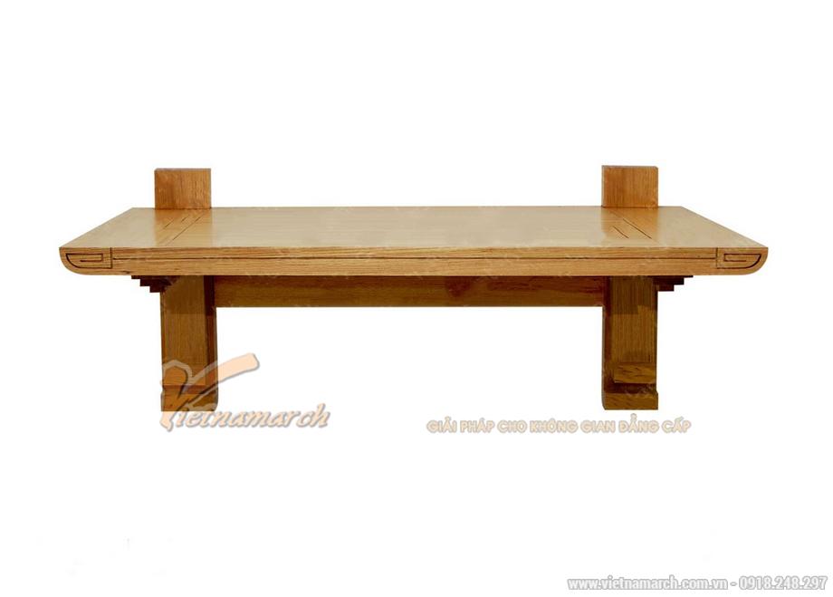 Mẫu thiết kế bàn thờ treo tường dưới đây mang phong cách đơn giản