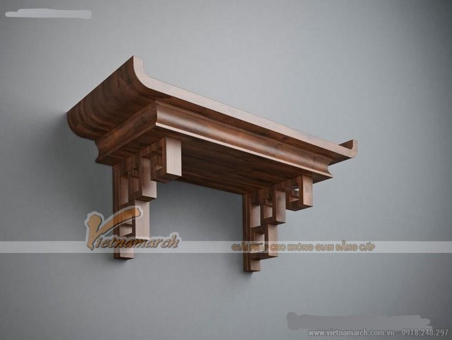 Mẫu bàn thờ hiện đại pha nét truyền thống