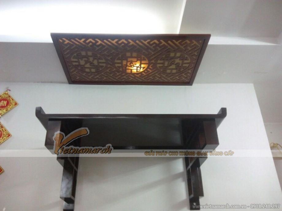 Mẫu bàn thờ treo mang đậm nét truyền thống