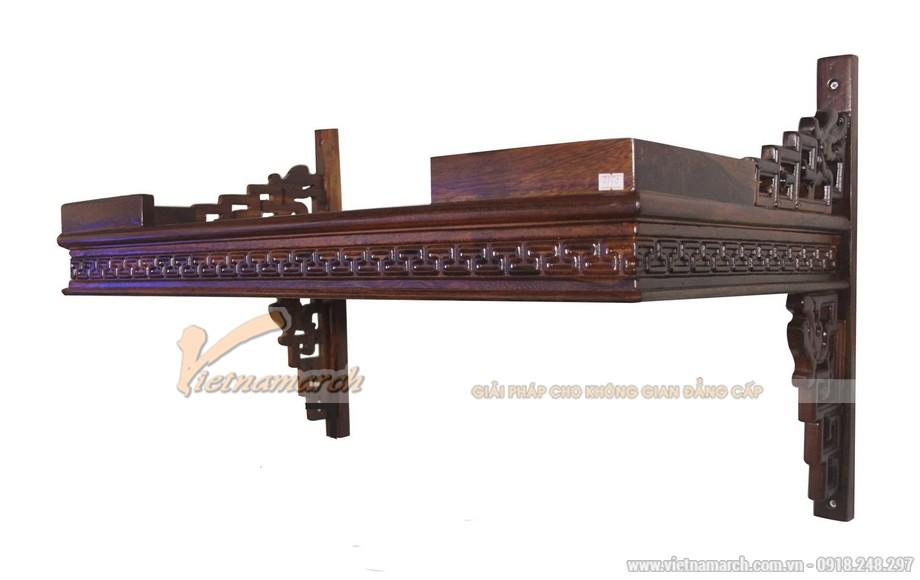 Mẫu bàn thờ treo tường mang phong cách hiện đại pha nét truyền thống