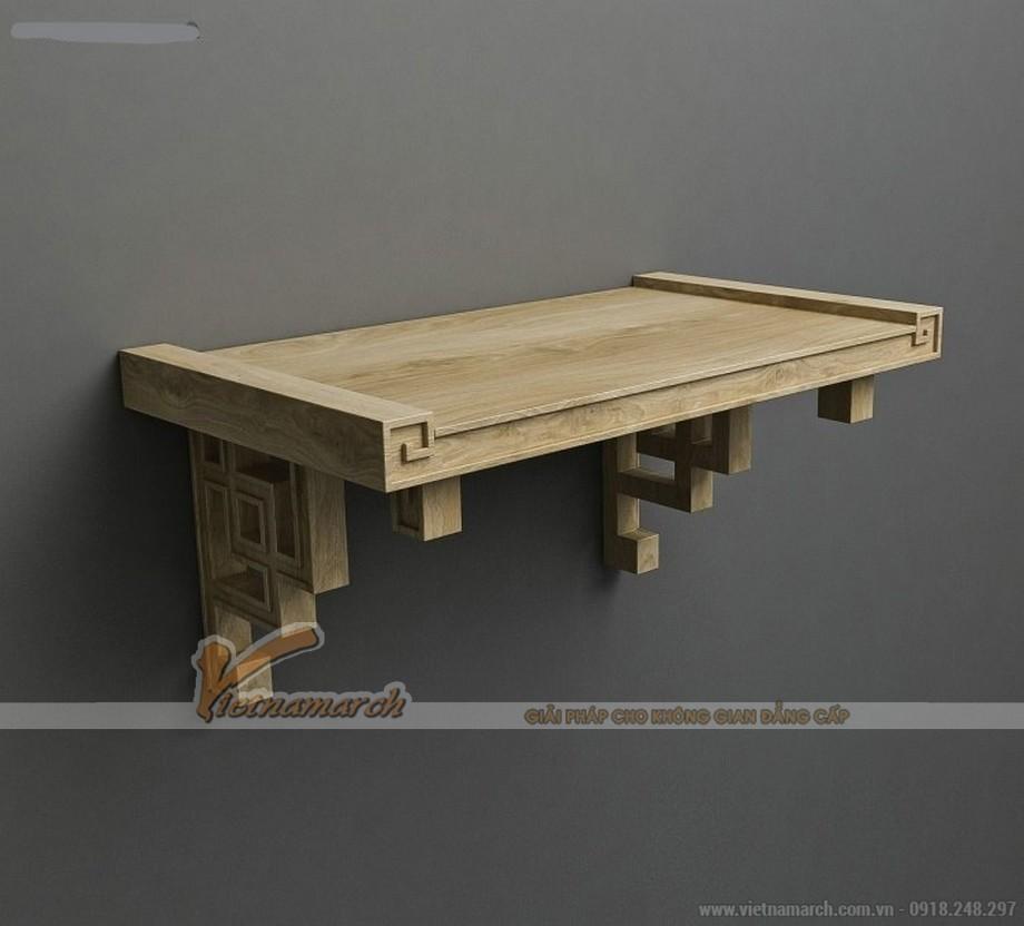 Mẫu bàn thờ treo bằng gỗ sồi cao cấp