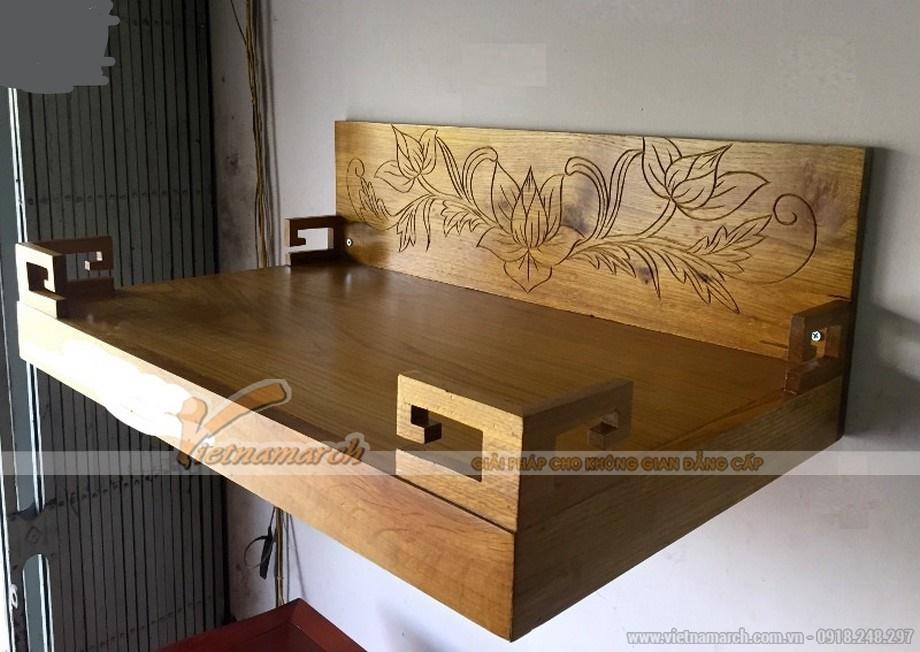 Mẫu ban tho treo bằng gỗ tự nhiên thiết kế đơn giản
