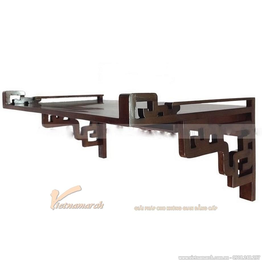 Mẫu bàn thờ treo tường mang phong cách hiện đại mà truyền thống
