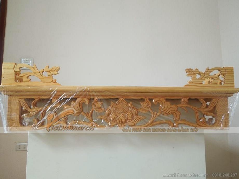 Mẫu bàn thờ treo tường mang phong cách truyền thống
