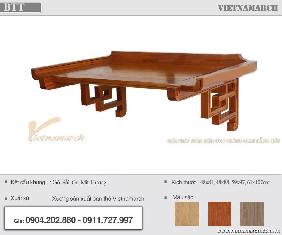 Mẫu bàn thờ nhà trọ