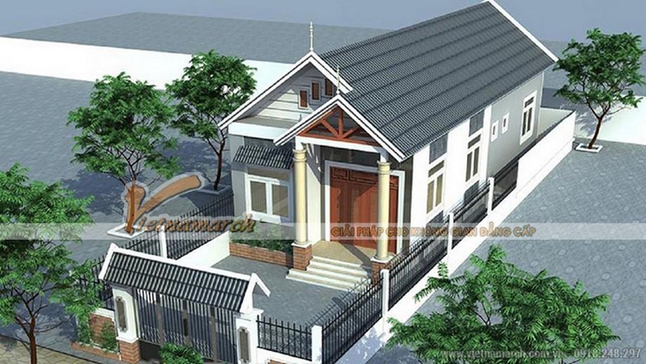 Ngôi nhà lấy điểm nhấn từ những mái nhỏ chữ A đẹp và sang trọng