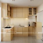 Những mẫu tủ bếp chữ L xinh xắn cho căn hộ chung cư diện tích nhỏ