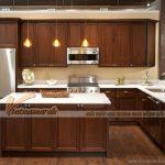 Những mẫu tủ bếp gỗ óc chó cao cấp, sang trọng