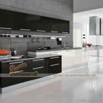 Những mẫu tủ bếp sang trọng có sự kết hợp của đen và trắng