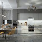 Những mẫu tủ bếp tuyệt đẹp kết hợp giữa màu trắng và xám