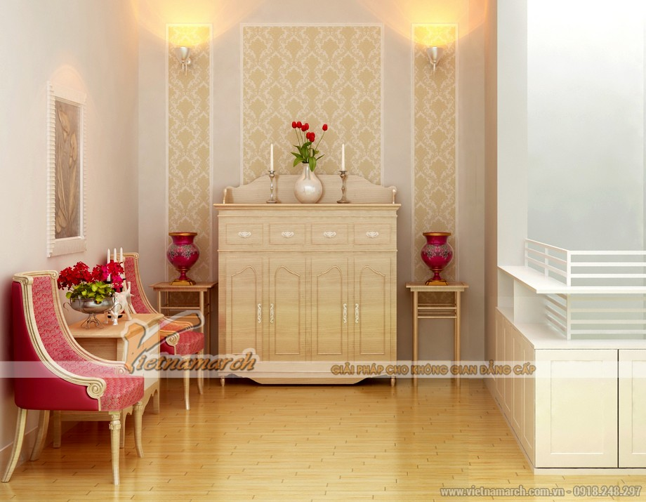 Mẫu nội thất phòng thờ đẹp dành cho căn hộ chung cư