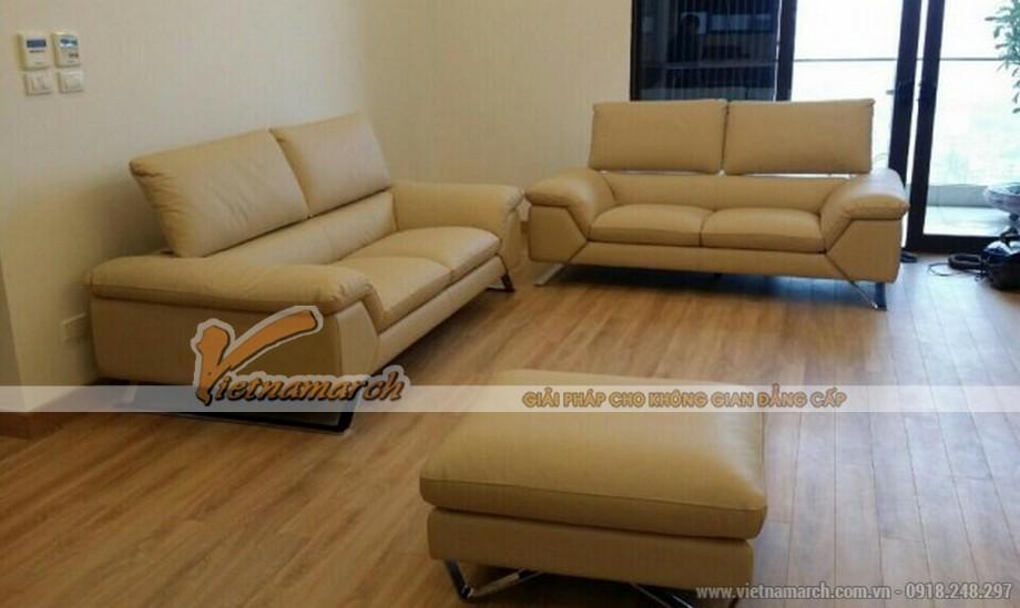 Bộ ghế Sofa da góc cao cấp, sang trọng nhập khẩu từ Italia
