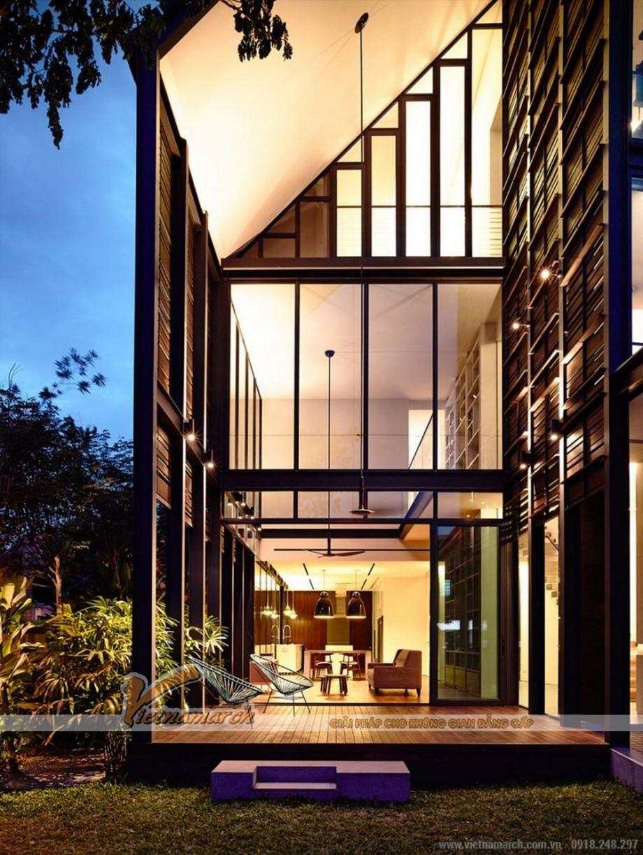 Chiêm ngưỡng mẫu thiết kế biệt thự 2 tầng MÁI LỆCH độc đáo