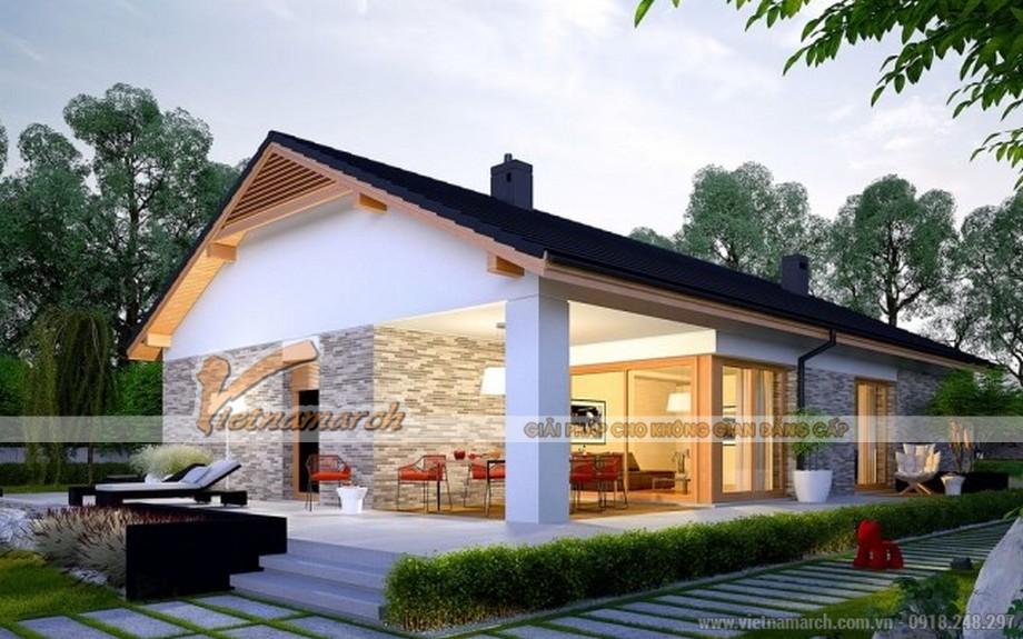 Chiêm ngưỡng mẫu thiết kế biệt thự nhà vườn 1 tầng đẹp nhất năm 2017