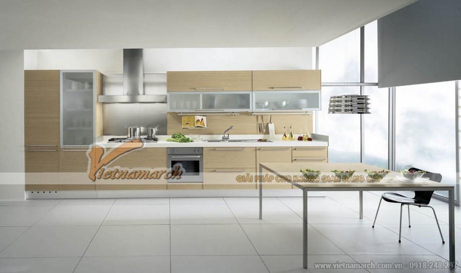 Mẫu tủ bếp chữ I đẹp và hiện đại cho chung cư cao cấp