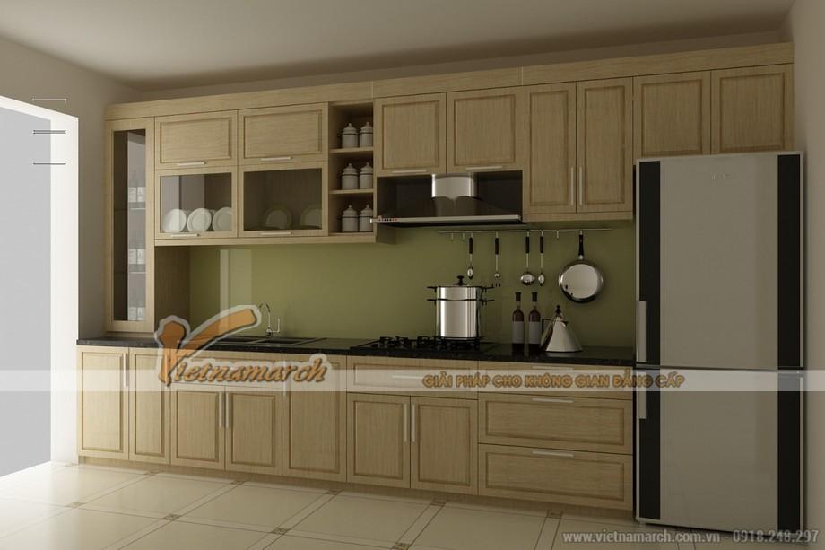 Mẫu tủ bếp chữ I phù hợp cho mọi không gian