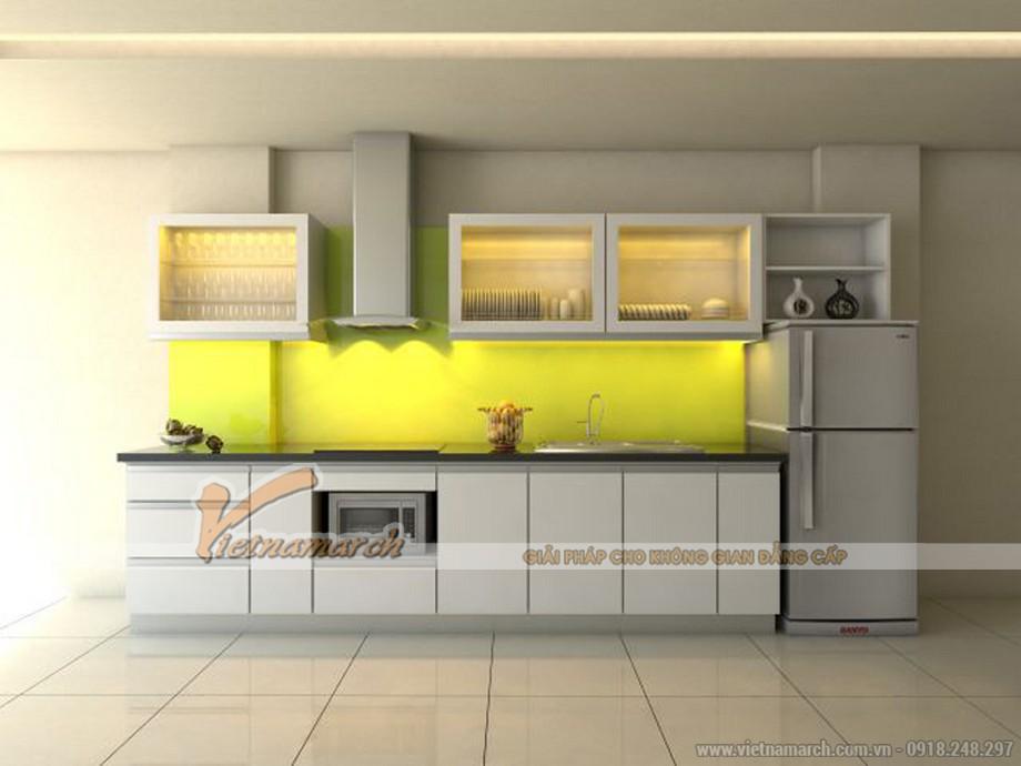 Mẫu tủ bếp chữ I đẹp và hiện đại