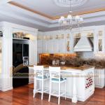 Tổng hợp những mẫu tủ bếp tân cổ điển sang trọng và ấn tượng