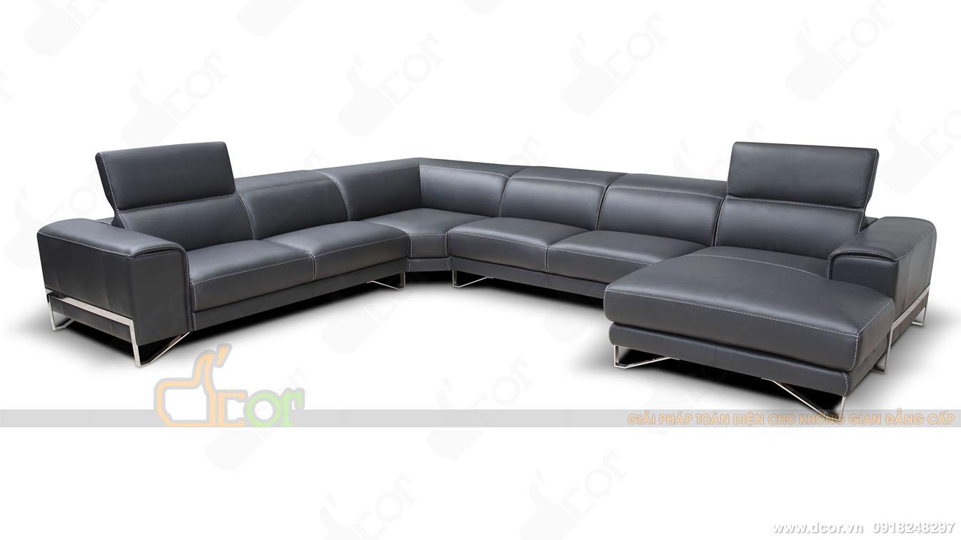 mẫu ghế sofa da cao cấp nhập khẩu từ Italia DG1029