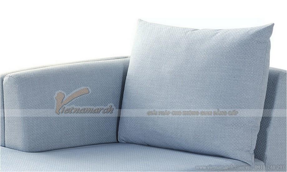Mẫu ghế sofa nỉ thanh lịch cho gia đình hiện đại