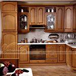 Những mẫu tủ bếp cao cấp bằng gỗ giáng hương