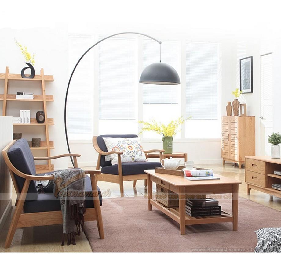 Khám phá mẫu sofa gỗ hiện đại cho phòng khách ấn tượng