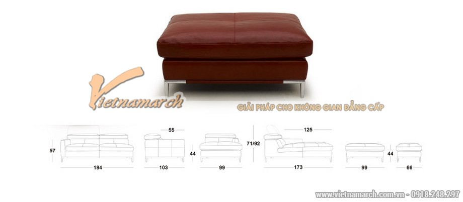 Khám phá bộ sofa da góc nhập khẩu từ Đài Loan đẹp lôi cuốn