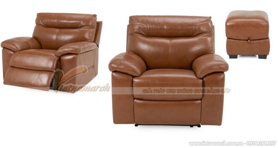Bộ sofa da Italia cao cấp cho phòng khách thêm sang