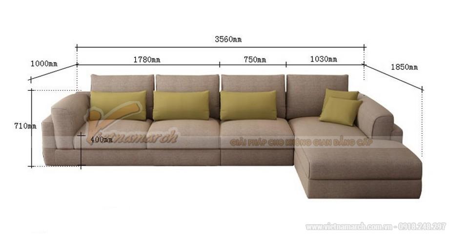 Chiêm ngưỡng mẫu sofa nỉ chữ L đẹp sang chảnh cho nhà chật